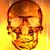 oog · brand · 3d · render · schedel · brandend - stockfoto © jonnysek