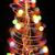 クリスマスツリー · 白 · ルーム · 緑 · 装飾された - ストックフォト © jonnysek