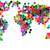 world map from plastic caps stock photo © jonnysek
