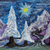 zimą · lasu · grunge · projektu · niebieski · biały - zdjęcia stock © jonnysek