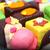 színes · torták · különböző · marcipán · üveg · tányér - stock fotó © joruba