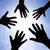 gemeenschap · vijf · handen · symbool · unie · touch - stockfoto © joruba