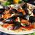 deniz · ürünleri · İtalyan · pizza · peynir · domates · taze - stok fotoğraf © joruba
