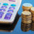 Calculator with coins stock photo © joruba