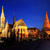 matthias church and fishermans bastion in budapest at night stock photo © joruba