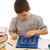 uczeń · Kalkulator · badania · szczęśliwy · oczy · farbują - zdjęcia stock © joseph73