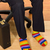 ongebruikelijk · zakenman · vergadering · fauteuil · kleurrijk - stockfoto © joseph73