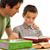 uczeń · ojciec · nauki · szczęśliwy · wraz · twarz - zdjęcia stock © joseph73