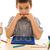 uczeń · Kalkulator · badania · szkoły · oczy · farbują - zdjęcia stock © joseph73
