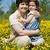 moeder · vergadering · veld · zomerbloemen · familie · meisje - stockfoto © joseph73