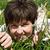 kobieta · zielona · trawa · kwiaty · dziewczyna · wiosną · kobiet - zdjęcia stock © joseph73