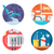 dental clinic icons set stock photo © jossdiim