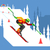 slalom downhill skiing stock photo © jossdiim