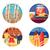 zomers · reis · ingesteld · kleur · iconen · huis - stockfoto © jossdiim