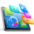 Tablet PC with application icons and pie chart stock photo © jossdiim