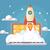 háló · kezdet · felfelé · stílus · rakéta · repülés - stock fotó © jossdiim