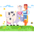 cartoon character cow and milkmaid stock photo © jossdiim