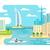 ドバイ · 市 · シルエット · ベクトル · スカイライン · 実例 - ストックフォト © jossdiim