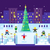 municipal skating rink christmas tree stock photo © jossdiim