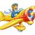 cartoon plane with pilot stock photo © jossdiim