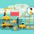 entrepôt · logistique · bannière · infographie · icônes · camion · de · livraison - photo stock © jossdiim