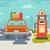 stacji · benzynowej · drogowego · stylizowany · starych · autostrady - zdjęcia stock © jossdiim