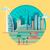 dubai city building icon stock photo © jossdiim