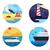 transporte · iconos · marinos · moderna · vintage · vehículos - foto stock © jossdiim