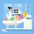 ultrageluid · illustratie · bespreken · gevolg · zwangere · patiënt - stockfoto © jossdiim