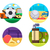 collection of icons sports ball games stock photo © jossdiim