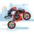 moto · casque · noir · rouge · bleu - photo stock © jossdiim