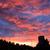 пригород · закат · школы · деревья · небе · трава - Сток-фото © juhku