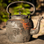 old kettle in wooden bench outdoors stock photo © juhku