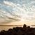mooie · bewolkt · zonsondergang · hemel · licht · stralen - stockfoto © juhku