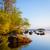 puesta · de · sol · reflexión · cielo · agua · sol · naturaleza - foto stock © juhku