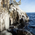 凍結 · 岩 · 崖 · 日の出 · 光 · 空 - ストックフォト © juhku