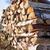 tűzifa · köteg · kívül · ház · erdő · fal - stock fotó © juhku