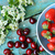 iştah · açıcı · kırmızı · kiraz · taze · olgun · mavi - stok fotoğraf © julietphotography