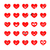 hart · gezichten · gelukkig · cartoon · illustratie - stockfoto © kaikoro_kgd