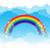 couleur · Rainbow · nuages · ciel · bleu · gradient - photo stock © kaikoro_kgd