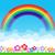 cor · arco-íris · nuvens · blue · sky · gradiente - foto stock © kaikoro_kgd