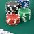 póker · zsetonok · zöld · felület · közelkép · különböző · színes - stock fotó © kajura