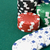 фишки · для · покера · зеленый · игры · таблице - Сток-фото © Kajura