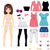 paper doll women fashion stock photo © kakigori