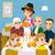 familia · cena · listo · casa · alimentos · ninos - foto stock © kakigori