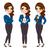 üzletasszony · karakter · szett · női · személyiség · különböző - stock fotó © kakigori