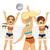 femminile · pallavolo · giocatore · cartoon · sport · ragazza - foto d'archivio © kakigori