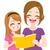 moeder · dochter · lezing · moeder · boek · weinig - stockfoto © kakigori