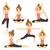 yoga · meisje · ingesteld · opleiding · mooi · meisje - stockfoto © kakigori