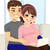 online · vásárlás · baba · nő · iroda · család · mosoly - stock fotó © kakigori